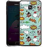 Samsung Galaxy A3 (2016) Housse Étui Protection Coque Tête de mort Bande dessinée Bombe Sticker Style