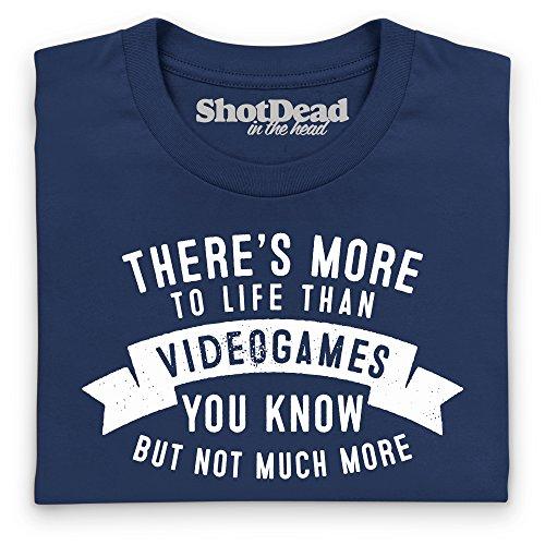 More To Life - Videogames T-Shirt, Herren Dunkelblau