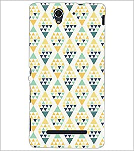PrintDhaba Pattern D-5219 Back Case Cover for SONY XPERIA C3 (Multi-Coloured)