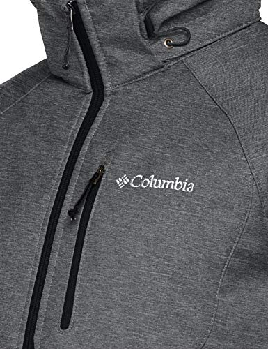 Columbia Winddichte Softshelljacke für Herren, Cascade Ridge II Softshell, Polyester, grau (charcoal heather), Gr. XS, WM3241 - 6