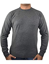 Pull 1st American 100% Cachemire col Ras du Cou - Pullover pour Homme  Manches Longues aa030ff4a7f