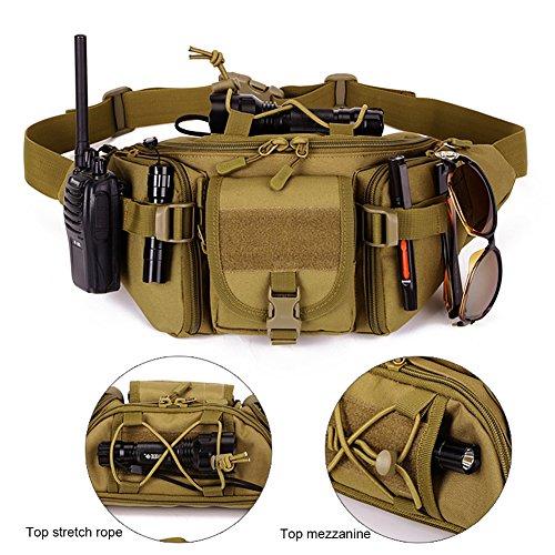 matoger Tactical Waist Pack Nylon Jagd Gürteltasche braun