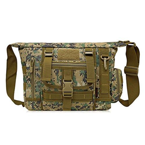 FFZH camuffamento digitale ventilatori militari tracolla / borsa del computer borsa uomo messenger / tattiche borsa casual , B E