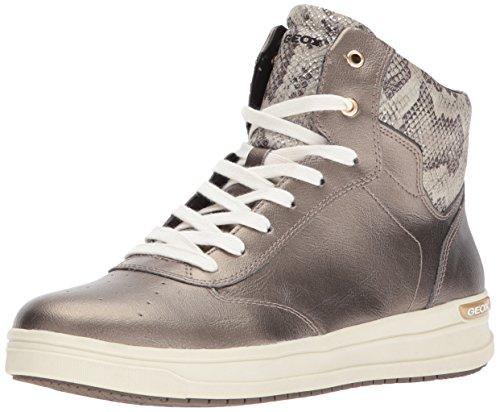 Geox Mädchen J Aveup Girl C Hohe Sneaker, Gold (Dk Gold), 29 EU (Girls Kinder Turnschuhe)