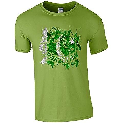 Bandiere Firmata Collezione 3, Gildan Kiwi Softstyle Youth Ringspun T-shirt Verde Bambino Ragazzo Maglietta Boys Top con Design Colorato. Taglia XS S M L XL, 1-14 Anni.