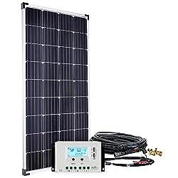 Offgridtec Solaranlage basicPremium-XL 150W 30A LCD Laderegler Profi Kabelkit