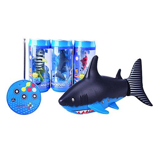 Zantec Fernbedienung Haifisch Schwimmer, Mini RC Fischboot Elektrisches Spielzeug, 27 MHz Radiosteuerung, für Kinder (Beach Kostüme Volleyball)
