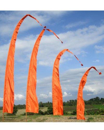 Bali-Fahne, dunkelorange 3 Meter