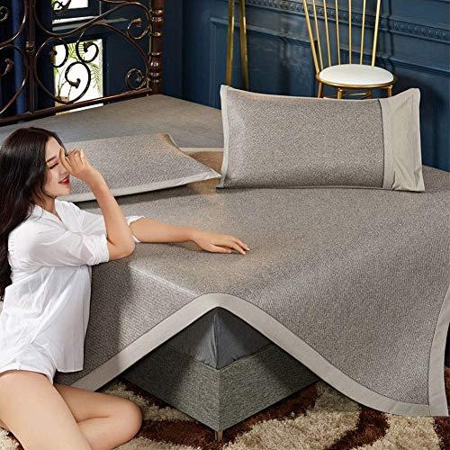 XDBY Ice Silk Mat - Faltbare rutschfeste Sommer-Schlafmatte - Waschbare Klimaanlage Weiche Matte - Anti-Staubmilbe - Doppelbett (Color : B, Size : 200X200CM) (Kühlung Matratze Königin)