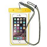 EOTW IPX8 Wasserdichte Tasche, Wasser- und staubdichte Hülle für Geld, Datenträger und Smartphones bis 15,24 cm (6 Zoll), Ideal für Den Strand, Wassersport, Fürs Radfahren, Angeln, usw. … (Yellow)