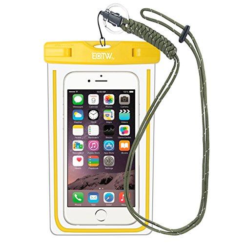 EOTW IPX8 Wasserdichte Tasche, Wasser- und staubdichte Hülle für Geld, Datenträger und Smartphones bis 15,24 cm (6 Zoll), Ideal für den Strand, Wassersport, fürs Radfahren, Angeln, usw. Gelb …