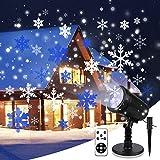 Projecteur de Noël YUE GANG LED Lumières de Projecteur IP65 Imperméable à l'eau Projecteur de flocon de neige pour Noel, Fête d'anniversaire, Mariage