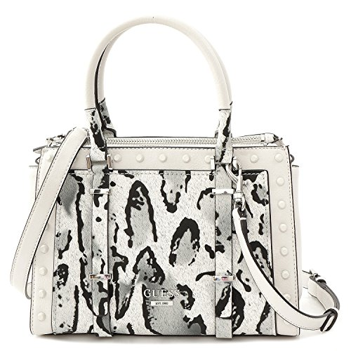 Sac à main imprimé léopard blanc Guess Basel LP611105 - -Blanc
