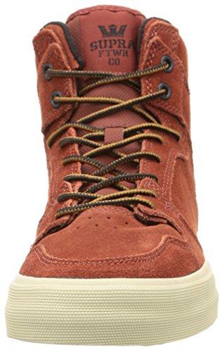 SupraVAIDER - Sneaker Unisex – adulto Rosso (Rot (BURNT HENNA  / BONE - WHITE   BHN))