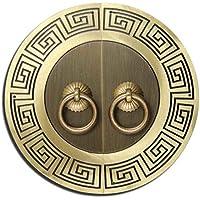 Encargarse de,Manija antigua china Manija del cobre gabinete Aldabón Cobre mango vintage Manija de la puerta clásica Manijas de muebles Nudo Aldaba de instalación de la aguja en forma de u 28cm-G