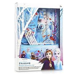 Disney-Frozen-2-Notizbcher-und-Federmppch-Set-12-teiliges-Briefpapier-Set-Enthlt-Bleistiften-Farbstiften-Notizblock-Radiergummi-Anspitzer-Frozen-Geschenke-Fr-Kinder-Mdchen-Jungs