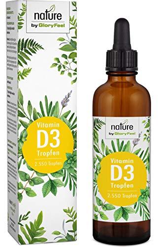 Vitamin D3 Tropfen 75ml - Vergleichssieger 2019* - 1000 IE pro Tropfen - Premium: Hohe Stabilität flüssig in MCT Öl aus Kokos - Laborgeprüft hergestellt in Deutschland
