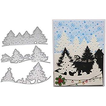 Doyime Scrapbooking dies de decoupe Cutting Dies pochoirs Matrices de d/écoupe Bricolage Album papier carte Craft