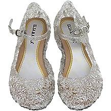 UK1stChoice-Zone ELSA & ANNA® Última Diseño Buena Calidad Niñas Princesa Reina de Nieve Jalea Partido Zapatos Zapatos de Fiesta sandalias (Blanco, EUR-31 (Plantilla: 19cm))