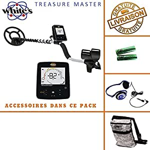 White's - Detecteur de Metaux Treasure Master avec casque audio et sac camo pouch garrett