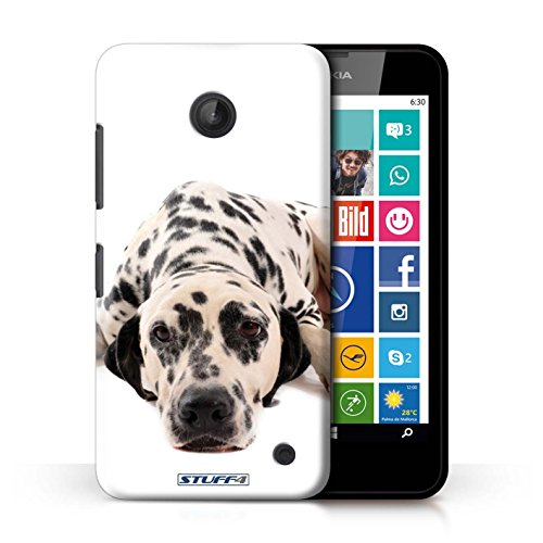 Kobalt® Imprimé Etui / Coque pour Nokia Lumia 635 / Husky/Esquimau conception / Série Chiens Dalmatien