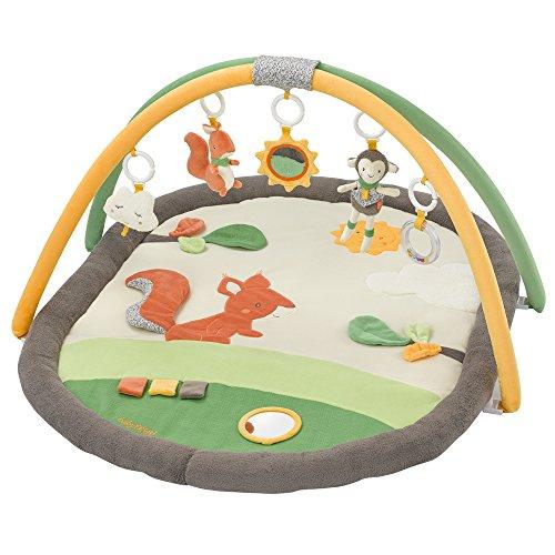 (Fehn 061147 3-D-Activity-Decke Sunshine   Spielbogen mit 5 abnehmbaren Spielzeugen für Babys Spiel & Spaß von Geburt an   Maße: 80x105cm)