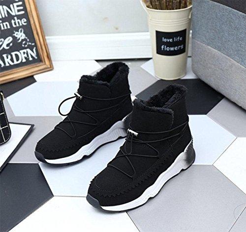 Meili Chaussures Pour Femmes, Bottes Pour Femmes, Bottes De Neige, Chaussures Plates, Sport, Bottes, Sauvage, Chaud, Bottes En Coton, Mode, Loisirs Noir