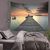 jtxqe Tapiz Decorativo Manta impresión Creativa hogar Paisaje hogar Pared Colgante Pared decoración Toalla de Playa 130x150 cm