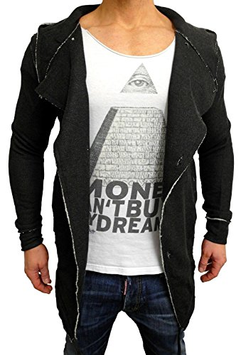 Oversize Designer Sweat Jacke Cardigan Hoody Pullover Shirt Herren Hoodie Longsleeve m NEU Kapuzenpullover long Sweatjacke skater hip hop...