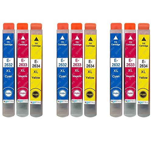 3 Go Inks Conjunto 3 Cartuchos Tinta reemplazar Epson