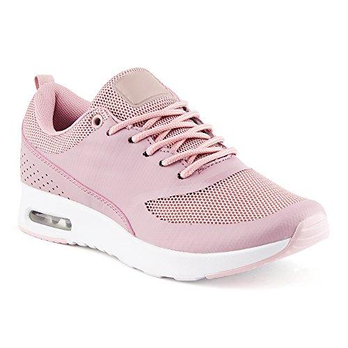 FiveSix Damen Sneaker Sportschuhe Laufschuhe Freizeitschuhe Dämpfung Netz Schnürschuhe Low-Top Schuhe Lila EU - Yeezy Nike 1