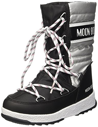 Moon Boot Unisex-Kinder We Quilted Jr Met Wp Schneestiefel, (Nero/Argento), 35 EU