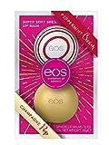 eos Winter Edition Duo Set Lip Balm Sphere Box: Peppermint Cream & Champagne Pop, feuchtigkeitsspendende Lippenpflege, Gesche