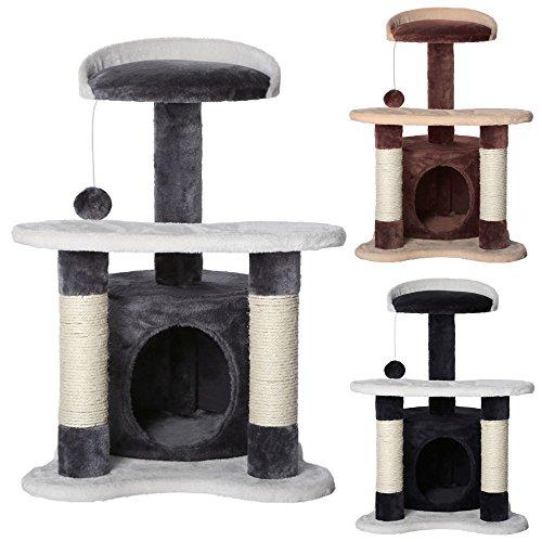 *dibea KB00141 Katzenkratzbaum, Kletterbaum für Katzen, Sisal, in verschiedenen Farben, grau/weiß*