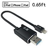 zdatt 3in 1MFI Apple iPhone Lightning chargingexternal Speicher Micro Speicher schwarz