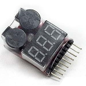 CamRepublic® 1-8s Lipo Testeur de tension basse tension Alarme par buzzer