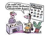 Postkarte A6 • 36004 ''Edelsteintherapie'' von Inkognito • Künstler: Renate Alf • Satire •...