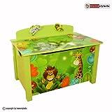 Homestyle4u Spielzeugkiste Kinder Spielkiste Dschungel Neu Spielzeugtruhe Box grün