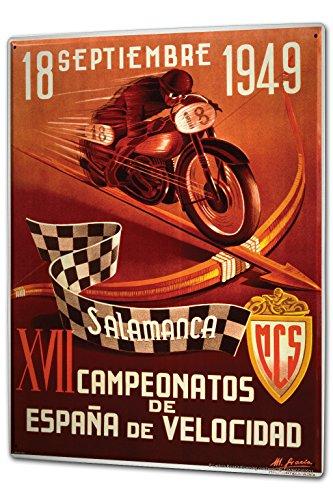 Blechschild XXL Motorrad Garage Cup Salamanca Spanien