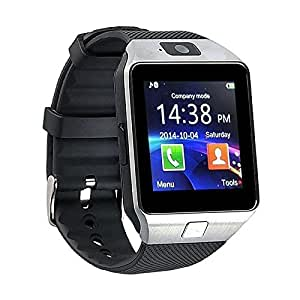 mobicell Gionee Pioneer P3 COMPATIBLE Bluetooth Smart Watch Phone With Camera and Sim Card Support With Apps like Facebook and WhatsApp Touch Screen Multilanguage Android/IOS Mobile Phone Wrist Watch Phone with activity trackers and fitness band features by mobicell