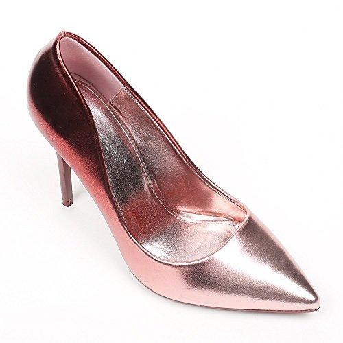 Ideal Shoes–Escarpins madreperla Vaneli Rose