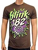 Coole-Fun-T-Shirts Herren T-Shirt Blink 182 Pow, Grau, XL, FT231