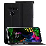 Eastcoo LG G8s ThinQ Hülle,LG G8s ThinQ Wallet Handyhülle PU Leder Flip Case Tasche Cover Schutzhülle mit [Standfunktion][Magnetic Closure][Card Slots] für LG G8s ThinQ Smartphone,Schwarz