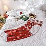 WANMT Wohn Kuscheldecken Herbst und Winter Weihnachten Strümpfe Sofa Stricken beiläufige Decke