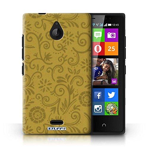 Kobalt® Imprimé Etui / Coque pour Nokia X2 Dual Sim / Fleur jaune conception / Série Motif Remous floral Fleur jaune