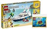 +d Lego Creator 31083 - Yacht in 3 in 1 Bausatz + Lego Creator 30476 - Meeresschildkröte, Kreativspielzeug für Kinder