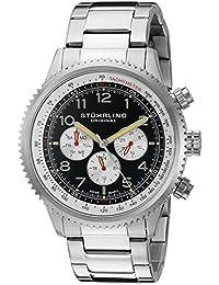 Stührling Original 858B.01 - Reloj analógico para hombre, correa de acero inoxidable, color plateado
