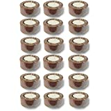 TYYC Diwali Candles And Diyas Glazed Metallic Copper Tealight Candle Holders Set Of 18 | Diwali Tea Lights T-lites Candles Lights | Diwali Gifts For Home Decoration Items Home Decor