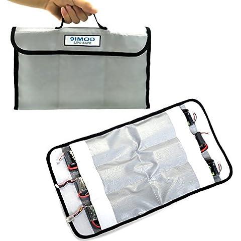 WOSKY 6 Pocket Organizer Fire Retardant RC LiPo Battery Safe Charging Storage Hanging Bag Case (Double