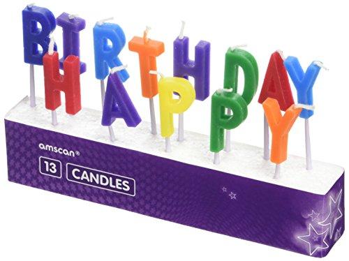 Amscan 9900744Happy Birthday Pick Kerzen